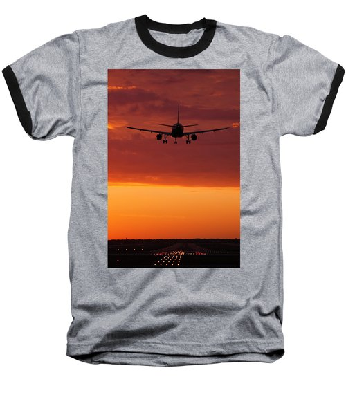 Arriving At Day's End Baseball T-Shirt by Andrew Soundarajan