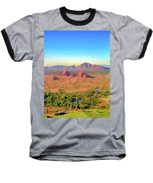 Arriving In Phoenix Digital Watercolor Baseball T-Shirt