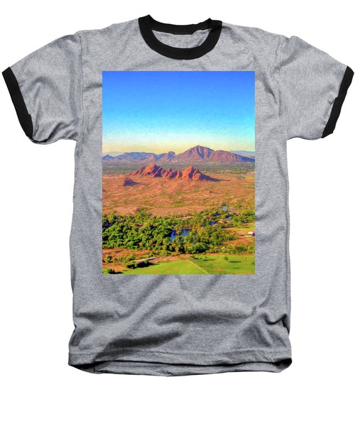 Arriving In Phoenix Digital Watercolor Baseball T-Shirt