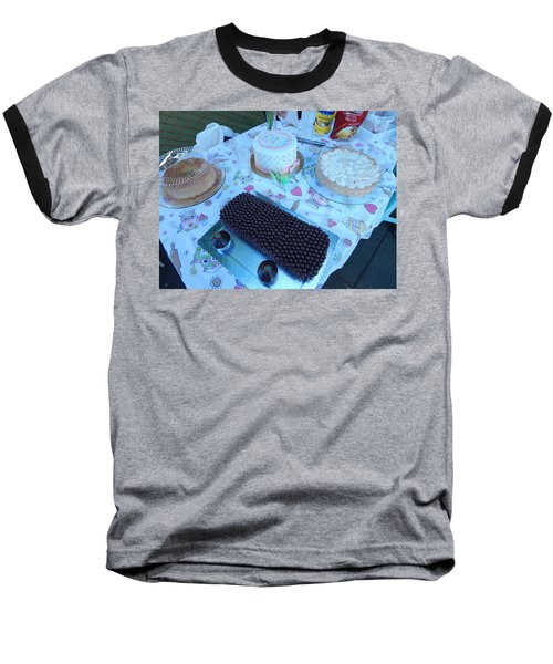 Baseball T-Shirt featuring the photograph Art And Food by Beto Machado