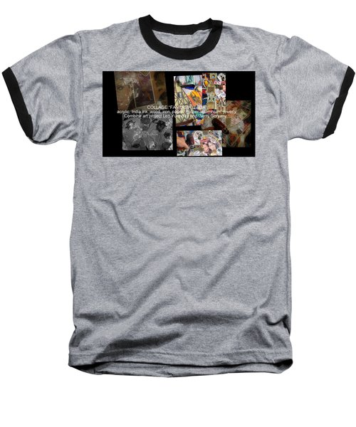 art collage Italy Baseball T-Shirt