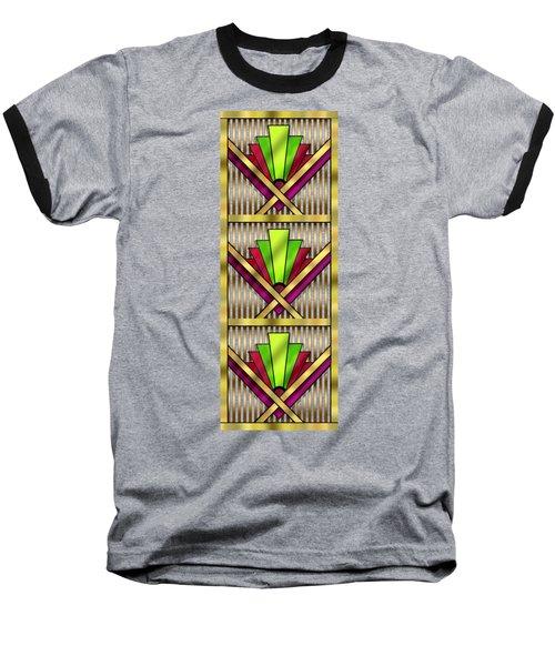 Art Deco 13 Tiles Baseball T-Shirt