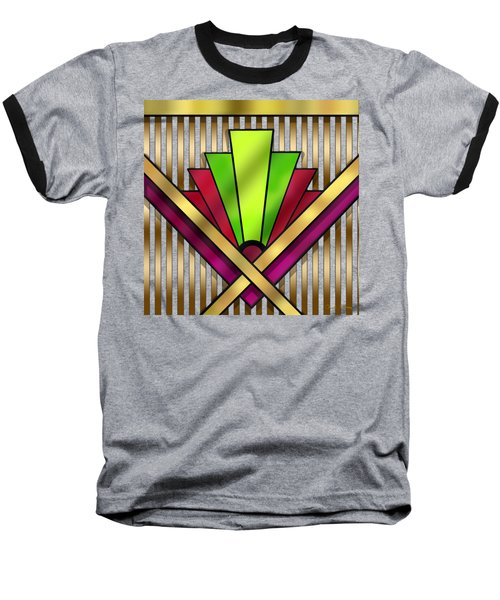 Art Deco 13 Transparent Baseball T-Shirt