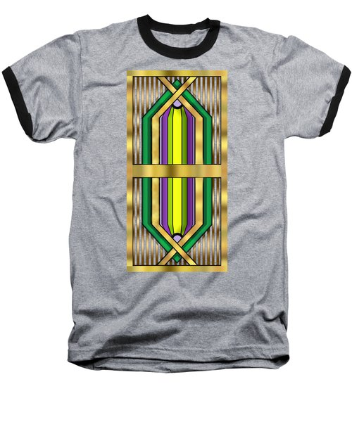 Art Deco 14 Vertical Baseball T-Shirt