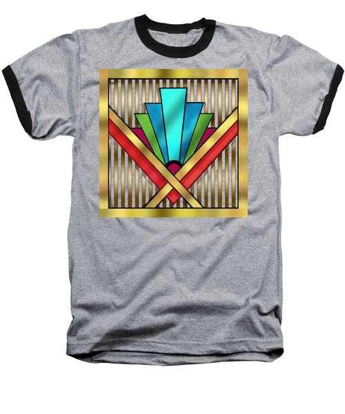 Art Deco 15 Transparent Baseball T-Shirt by Chuck Staley