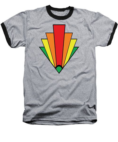 Art Deco Chevron - Chuck Staley Baseball T-Shirt by Chuck Staley
