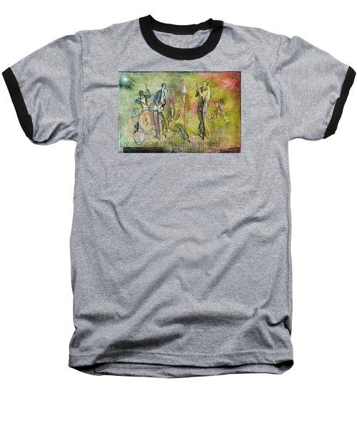 Art Deco Dancing Baseball T-Shirt by Bellesouth Studio