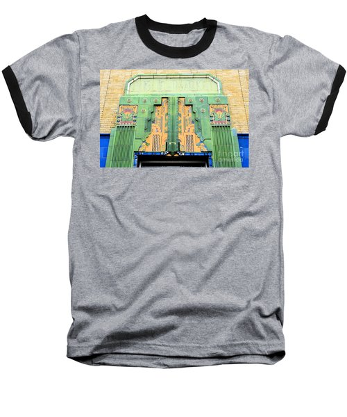 Art Deco Facade At Old Public Market Baseball T-Shirt