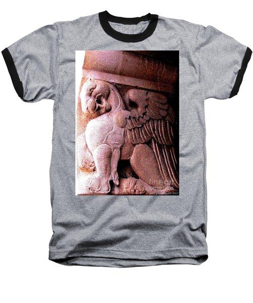 Baseball T-Shirt featuring the photograph Art Deco Griffin Circa 1925 by Peter Gumaer Ogden