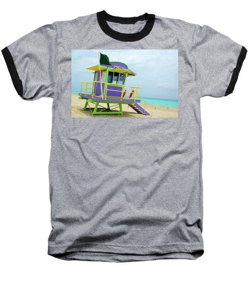Art Deco Lifeguard Shack Baseball T-Shirt