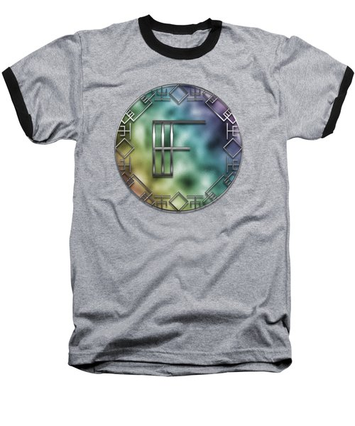 Art Deco Monogram - F Baseball T-Shirt