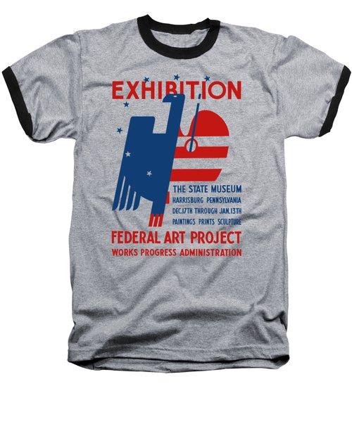 Art Exhibition The State Museum Harrisburg Pennsylvania Baseball T-Shirt