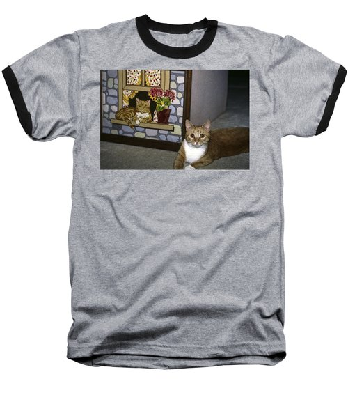 Baseball T-Shirt featuring the photograph Art Imitates Life by Sally Weigand