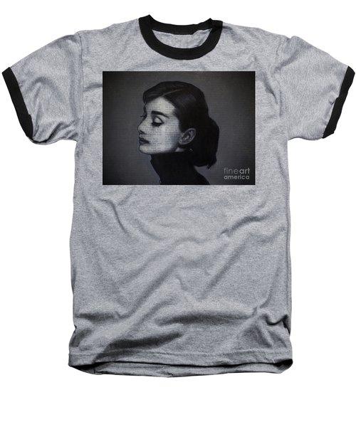 Art In The News 98-audrey Hepburn Baseball T-Shirt