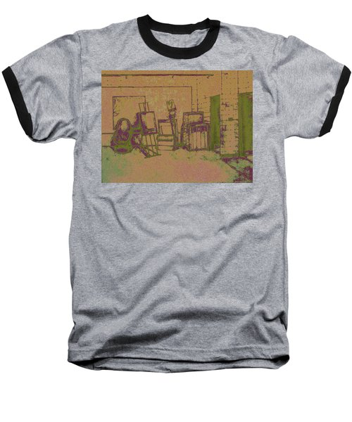 Art Intro Mixed Media Baseball T-Shirt
