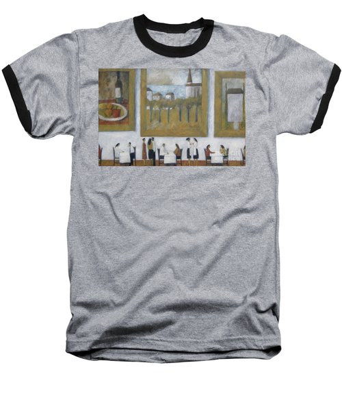 Baseball T-Shirt featuring the painting Art Is Long, Life Is Short by Glenn Quist