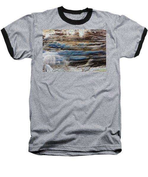 Art Print Cliff 1 Baseball T-Shirt