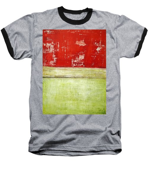 Art Print Rotgelb Baseball T-Shirt