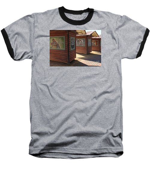 Baseball T-Shirt featuring the photograph Art Shacks Old Town by Cheryl Del Toro