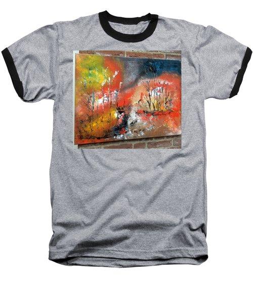 Art Work Baseball T-Shirt by Sheila Mcdonald
