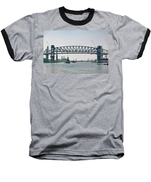 Arthur Kill The Four Tugs Baseball T-Shirt by Steven Richman