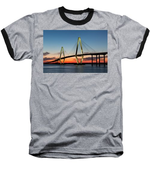 Arthur Ravenel Bridge, Charleston At Twilight Baseball T-Shirt