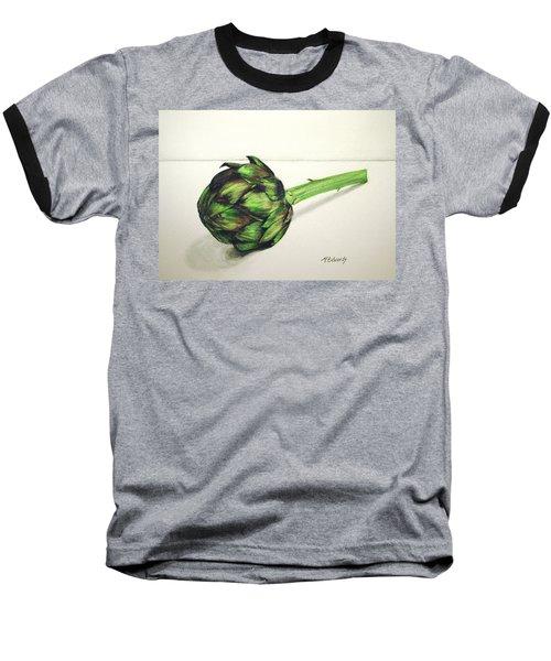 Artichoke Baseball T-Shirt by Marna Edwards Flavell