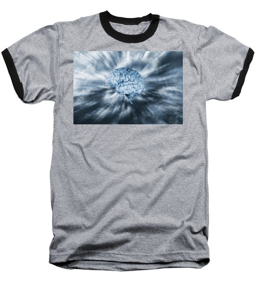 Baseball T-Shirt featuring the photograph Artificial Intelligence With Human Brain by Christian Lagereek
