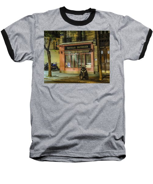 Baseball T-Shirt featuring the photograph Artisan Patissier Montmartre Paris by Sally Ross
