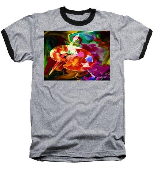 Artist Palette In Neon Colors Baseball T-Shirt