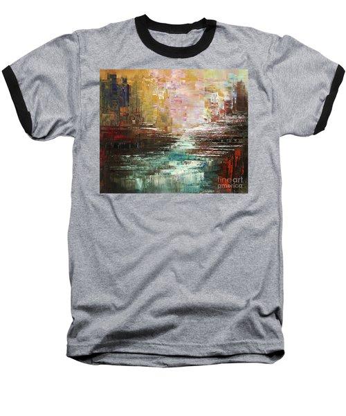 Artist Whitewater Baseball T-Shirt by Tatiana Iliina