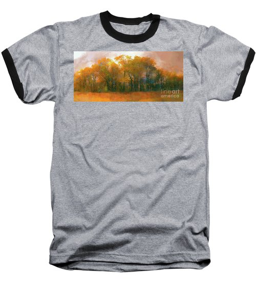Artistic Fall Colors In The Blue Ridge Ap Baseball T-Shirt