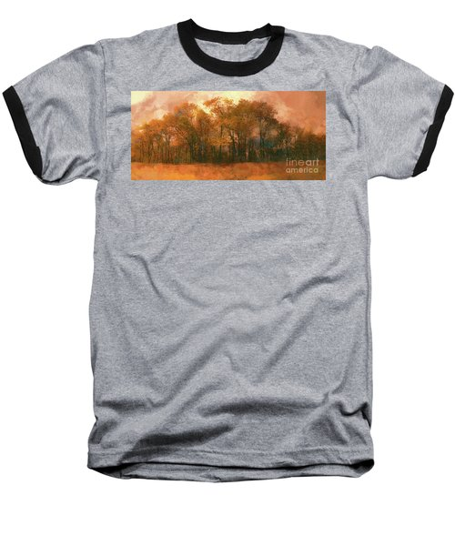 Baseball T-Shirt featuring the photograph Artistic Fall Colors In The Blue Ridge Fx by Dan Carmichael
