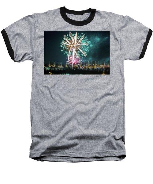 Artistic Fireworks Baseball T-Shirt