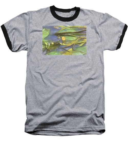 Baseball T-Shirt featuring the photograph Artistic Yellow Waterlilly 2015 by Leif Sohlman
