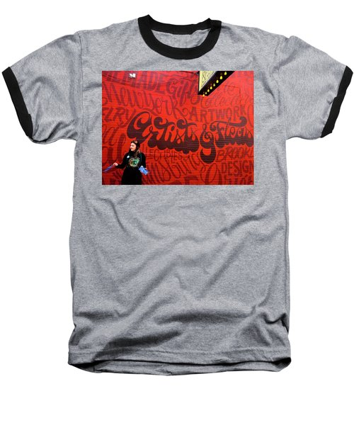 Artists And Fleas In New York  Baseball T-Shirt by Funkpix Photo Hunter