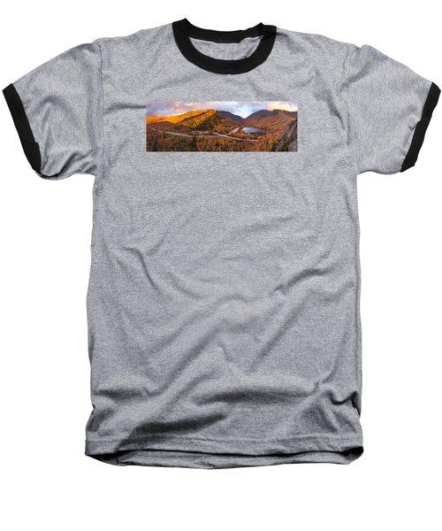 Artists Bluff Sunset Rainbow Baseball T-Shirt