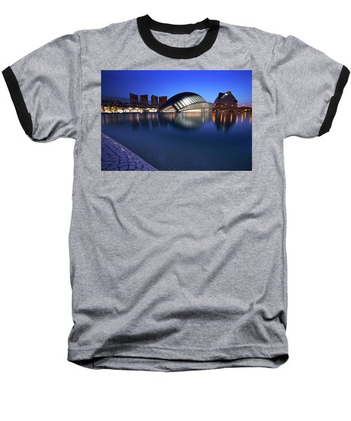 Arts And Science Museum Valencia Baseball T-Shirt by Graham Hawcroft pixsellpix