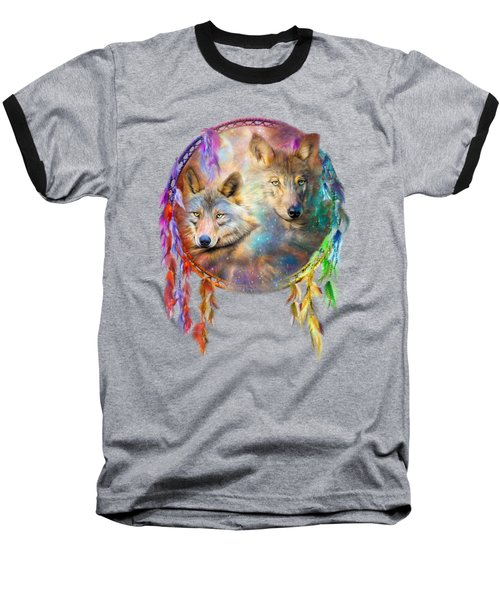 Dream Catcher - Wolf Spirits Baseball T-Shirt