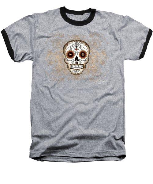 Vintage Sugar Skull Baseball T-Shirt