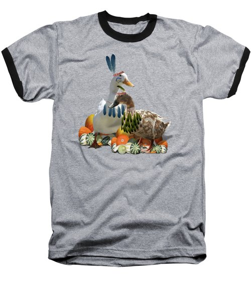 Thanksgiving Indian Ducks Baseball T-Shirt