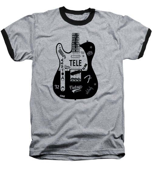 Fender Telecaster 52 Baseball T-Shirt by Mark Rogan