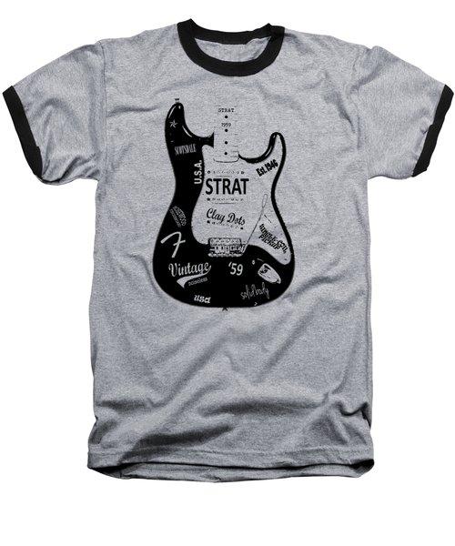 Fender Stratocaster 59 Baseball T-Shirt by Mark Rogan