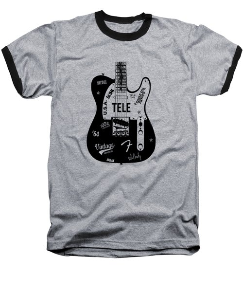 Fender Telecaster 64 Baseball T-Shirt by Mark Rogan