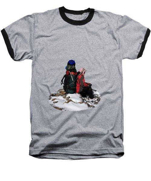Himalayan Porter, Nepal Baseball T-Shirt by Aidan Moran