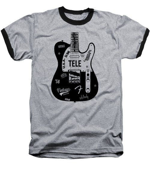 Fender Telecaster 58 Baseball T-Shirt by Mark Rogan