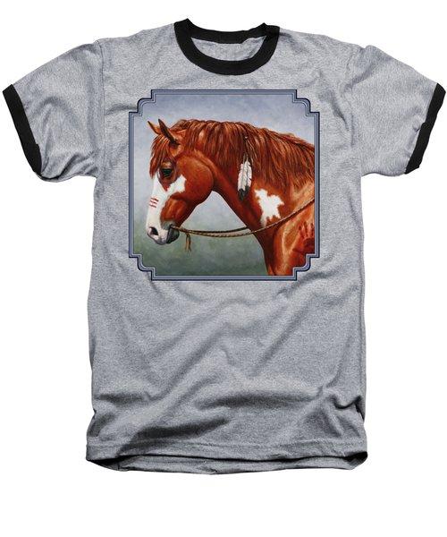 Native American War Horse Baseball T-Shirt
