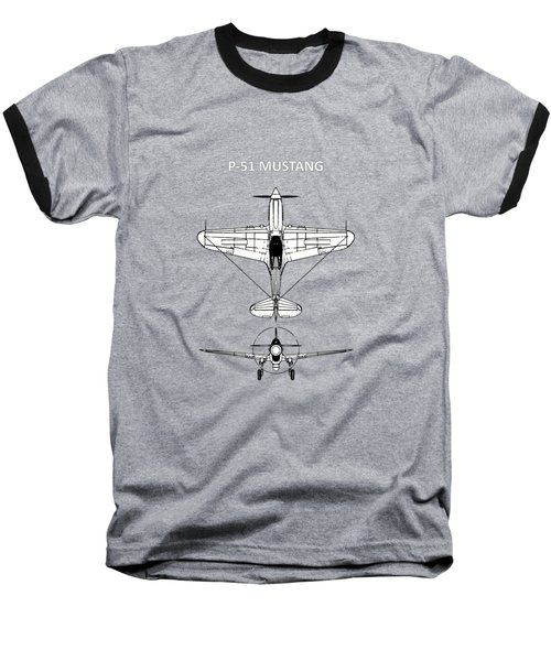 P-51 Mustang Baseball T-Shirt