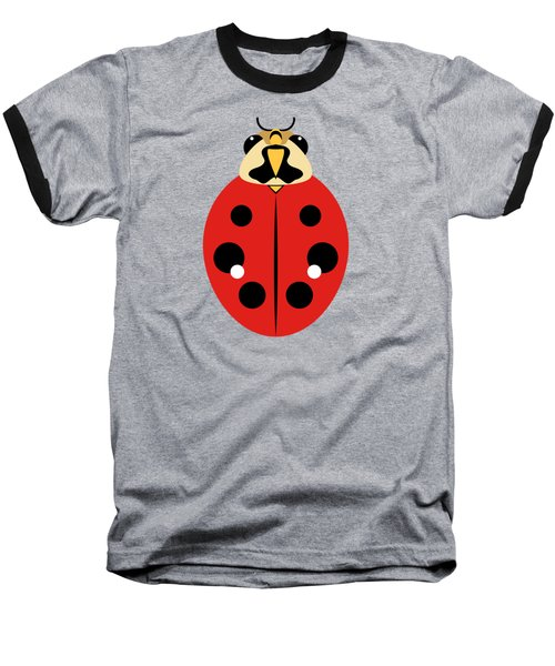 Ladybug Graphic Red Baseball T-Shirt by MM Anderson