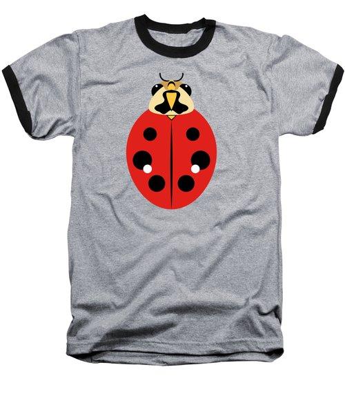 Ladybug Graphic Red Baseball T-Shirt
